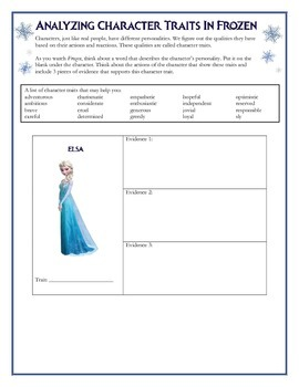 Analyzing Character Traits in Frozen
