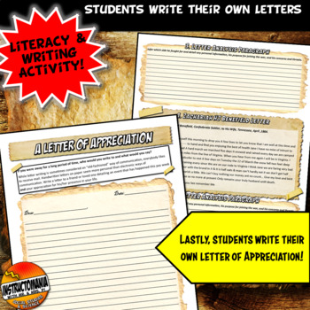 Analyzing Civil War Letters: Common Core Primary Source Analysis Activity