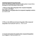 Analyzing Compound Inequality Graphs Worksheet