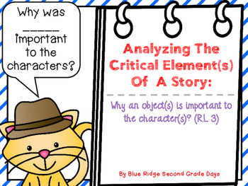 Analyzing Critical Element In A Story: Why is the __important to the character?