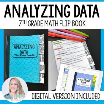 Analyzing Data Mini Tabbed Flip Book for 7th Grade Math