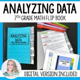 Analyzing Data Mini Tabbed Flip Book for 7th Grade Math