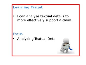 Analyzing Details to Support a Claim