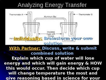 Analyzing Energy Transfer Prompt- Formative Assessment