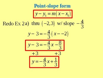 Analyzing Equations of Lines