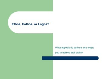 Analyzing Ethos, Pathos and Logos - Persuasive Techniques