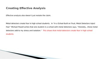 Analyzing Evidence in Argumentative Essays