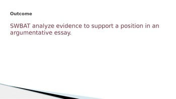 Analyzing Evidence in Argumentative Essays