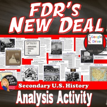 Great Depression-Analyzing FDR's New Deal Programs (Print and Digital)