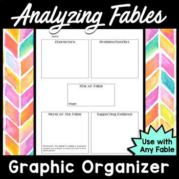 Analyzing Fables (Graphic Organizer)