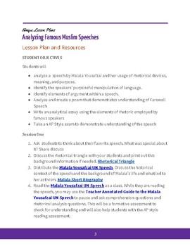 Analyzing Famous Muslim Speeches- Malala Yousafzai
