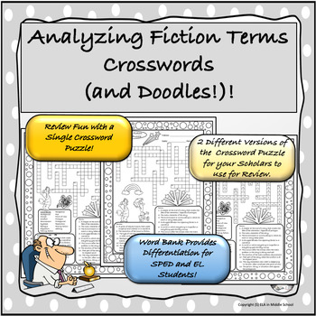 Analyzing Fiction Crosswords with Doodles