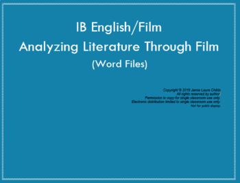 Analyzing Films through Literature: IB Film