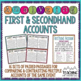Analyzing Firsthand and Secondhand Accounts | Distance Learning