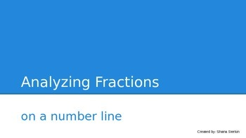 Analyzing Fractions on a Number Line