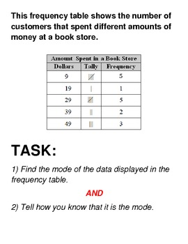 Analyzing Frequency Tables - Stations Task Cards