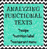 Analyzing Funcitonal Texts - Reading a Recipe, Nutrition Label, and Menu