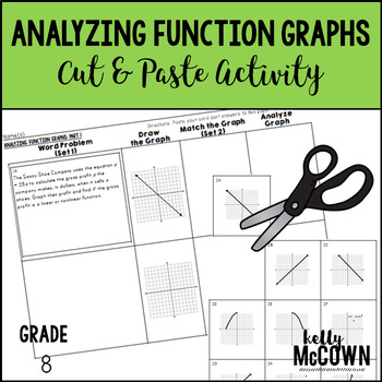 Analyzing Function Graphs Cut Paste Activity By Kelly Mccown Tpt