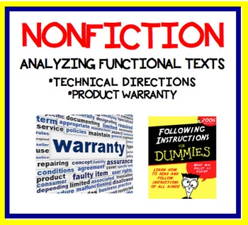 Analyzing Functional Texts - Technical Directions & Product Warranty - RI.7.5.