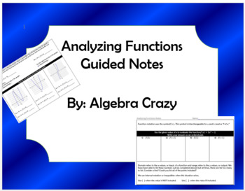 Analyzing Functions Guided Notes