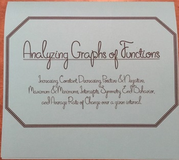 Analyzing Graphs of Functions