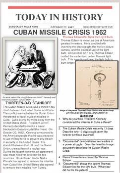 Analyzing Historical Documents: Cuban Missile Crisis/ Thomas Edison