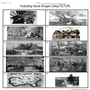 Analyzing Historical Images - Slavery, Civil War, and Reconstruction