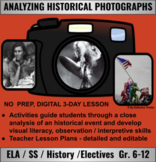 Analyzing Historical Photographs: Teacher Lesson Plans and
