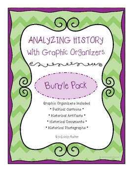 Analyzing History with Graphic Organizers Bundle Pack