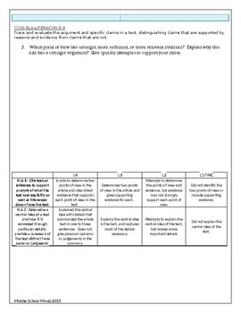 Analyzing an Issue - Assessment