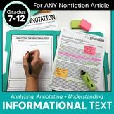 Analyzing Informational Text Using Manila Folders & Annotation Stations
