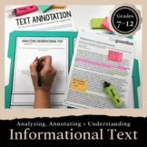 Analyzing Informational Text Using Manila Folders & Annota