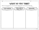"""""""What Do You Think?"""" – Graphic Organizer for Analyzing and Responding to Texts"""