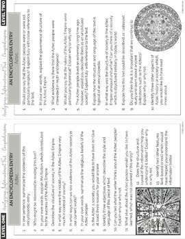 Analyzing Informational Texts: Lessons BUNDLE