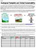Analyzing & Interpreting Data: Ecological Footprint & Glob