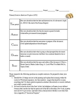 "Analyzing John Gast's ""American Progress"""