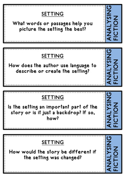 Analyzing Language and Author's Purpose for Upper Primary - question cards