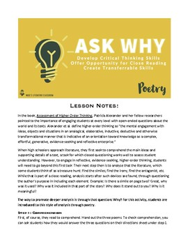 Analyzing Literature: Asking Why with Poetry