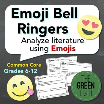 Analyzing Literature Using Emojis Bell Ringers/Exit Slips,