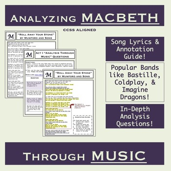 Analyzing Macbeth Through Music: Engaging Annotation and Analysis Activities
