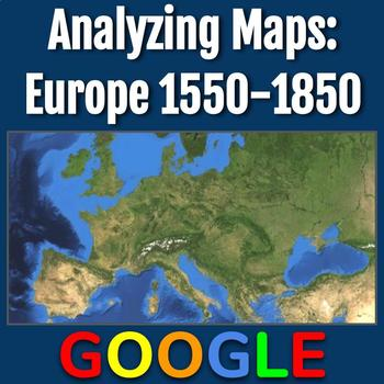 Analyzing Maps: Europe 1550-1850 by Tech that Teaches | TpT