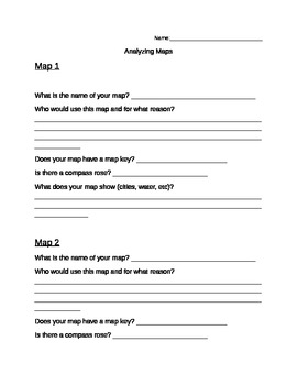 Analyzing Maps Worksheet