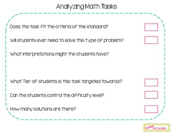 Analyzing Math Tasks
