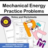 Analyzing Mechanical Energy: Notes and Worksheets