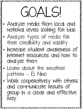 Analyzing Media - El Nino