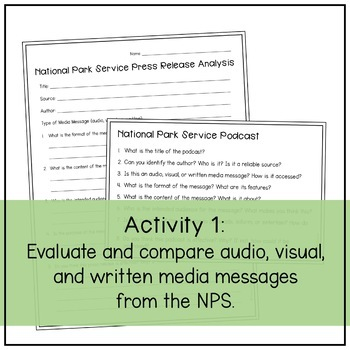 Analyzing Media Messages (National Parks)