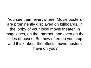 Analyzing Media: Movie Posters