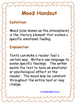 Analyzing Mood Bundle: Graphic Organizers, Handouts, Original Texts, & Examples