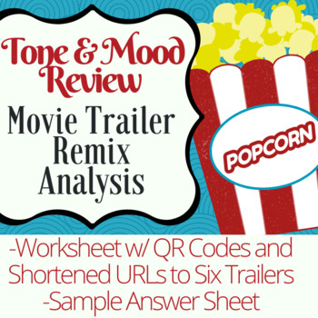 Analyzing Mood and Tone using Movie Trailer Remixes