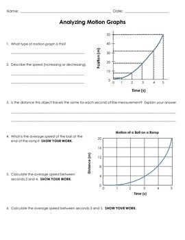 Motion Graphs Teaching Resources Teachers Pay Teachers